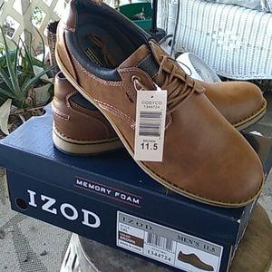 NWT Izod mens brown&blue shoes Sz. 11.5